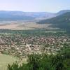Blick vom Balkangebirge auf die thrakische Ebene