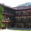 courtyard of a monastery near Trojan