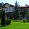 Balkan monastery courtyard