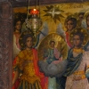 在Trojan附近的修道院里面的湿壁画
