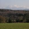 从Litzelstetten的Purren山看到阿尔卑斯山的风景