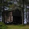typische mittelnorwegische Blockhütte