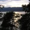 在特隆赫姆的峡湾的落日