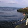 第一个用自己制作的钓竿的钓鱼尝试