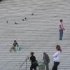 拉德芳斯区新凯旋门的楼梯