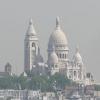 从巴黎老佛爺百货商店的楼顶的景象
