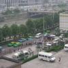 Blick aus unserem ersten Hotel in Chengdu