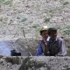 zwei Hirten bei ihrer Arbeit