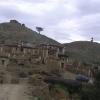 typisches tibetisches Bauerndorf