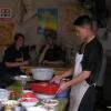 第一个在中国的午饭;因为那时候还不会说中文,所以我们只选择了三种蔬菜。。。