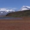 在后面一直可以看见7000米多高的山