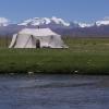 典型的藏族的帐篷
