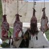 小的肉铺:有干的肉